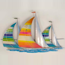 Tropical Regatta Sailboat Racing Metal Wall Sculpture | TI Design | TICA733