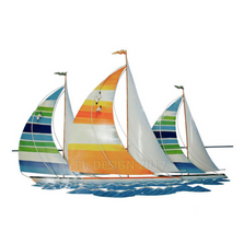 Tropical Regatta Sailboat Racing Metal Wall Sculpture | TI Design | CA733
