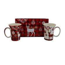 Holiday Reindeer Bone China Mug Set of 2   McIntosh Trading Reindeer Mug   MTMMC020179