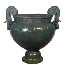 Snake Handle Bronze Urn | Metropolitan Galleries | SRB55017