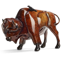 "Bison Sculpture Small Imago ""Simpaticos"" 