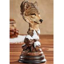 "Wolf Sculpture ""Vagabond"" 