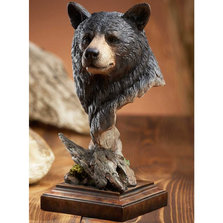 "Black Bear Sculpture ""Smoky"" 