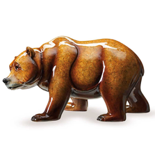 "Bear Sculpture Imago Topaz ""Walk About""