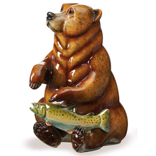 "Bear Sculpture Imago Topaz ""Finders Keepers"" 