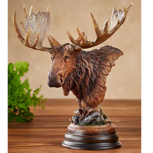 "Moose Sculpture ""Twig Eater"" 