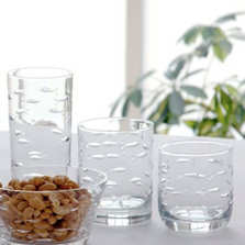 School of Fish Engraved Tumbler Glass Set | Rolf Glass | 600697