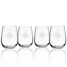 Compass Rose Stemless Wine Glass Set of 4 | Rolf Glass | 223339