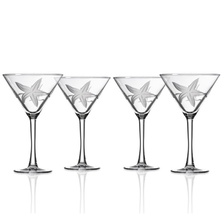 Starfish Martini Glass Set of 4 | Rolf Glass | 400136