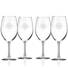 Compass Rose 18 oz Wine Glass Set of 4 | Rolf Glass | 223261