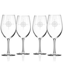 Compass Rose 18 oz Wine Glass Set of 4 | Rolf Glass | 223261