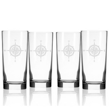 Compass Rose Iced Tea Glass Set of 4 | Rolf Glass | 223018