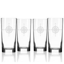 Compass Rose Iced Tea Glass Set of 4 | Rolf Glass | 223018