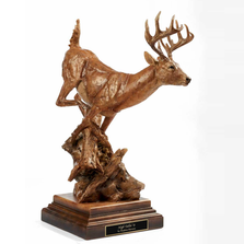 "Whitetail Deer Sculpture ""High Tailin' It"" 
