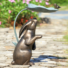Rabbit, Bird, and Leaf Birdfeeder | 34873 | SPI Home