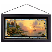 "Lighthouse Stained Glass Art ""Sea of Tranquility"" 