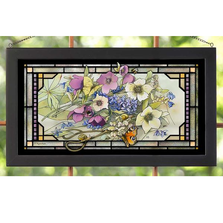 "Butterfly Stained Glass Art ""Gardner's Delight"" 