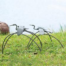 Cranes and Reeds Garden Sculptures Pair   34885   SPI Home