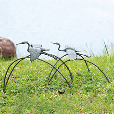 Cranes and Reeds Garden Sculptures Pair | 34885 | SPI Home