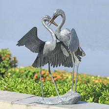 "Egret Garden Sculpture ""Gentle Embrace"" 