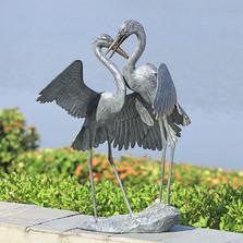 """Egret Garden Sculpture """"Gentle Embrace""""   34900   SPI Home"""