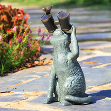 Observant Cat Garden Sculpture | 34906 | SPI Home