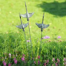 Crane Trio Garden Sculpture on Flexible Stake   34911   SPI Home