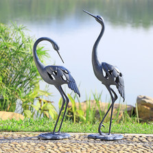Crane Pair LED Light Garden Sculpture | 34914 | SPI Home