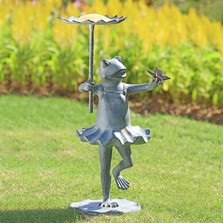 Frog Ballerina with Butterfly Sculptural Birdfeeder | 34919 | SPI Home