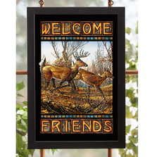 "Deer Stained Glass Art ""Autumn Run"" 