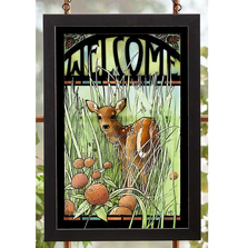 Fawn Welcome Stained Glass Art | 5386498412