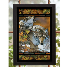 "Wolves Stained Glass Art ""Body Language"" 
