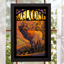 Elk Bugling Stained Glass Art | 5386498017