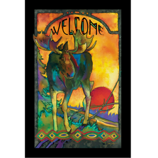 "Moose Stained Glass Art ""Morning Moose"" 