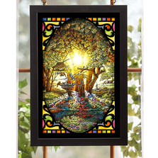 "Bird Stained Glass Art ""The Colors of Spring"" 