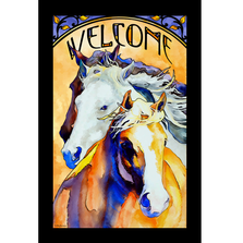 "Horse Stained Glass Art ""Follow Me"" 