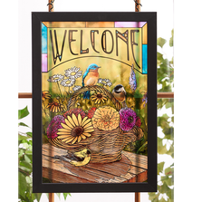 "Songbird Stained Glass Art ""A Summer Bouquet"" 