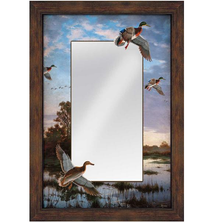 "Mallards Decorative Mirror ""Evening Flight"" 