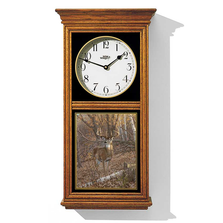 "Deer Oak Wood Regulator Wall Clock ""Great Eight"" 