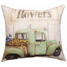 Butterfly and Flowers Indoor Outdoor Throw Pillow | SLFRFW