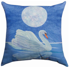Swan Indoor Outdoor Throw Pillow | SLSWAN