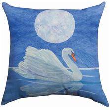 Swan Indoor Outdoor Throw Pillow | SLSWAN