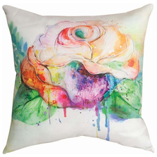Rose Color Splash Indoor Outdoor Throw Pillow | SLCRSE