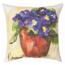 Primrose Orange and Purple Indoor Outdoor Throw Pillow