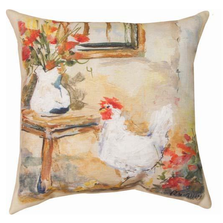 Chix Window Indoor Outdoor Throw Pillow | SLCXWD