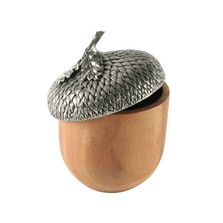 Acorn Wood & Pewter Serving Bowl | Vagabond House | VHCL217B
