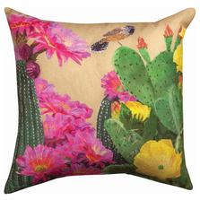 Cactus and Wren Indoor Outdoor Throw Pillow | SLCTWR