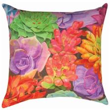 Succulents Indoor Outdoor Throw Pillow   SLSUCC