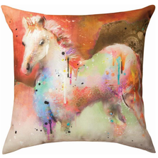 Horse Color Splash Indoor Outdoor Throw Pillow | SLCHRS