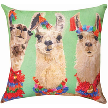 Llama 3 Amigos Indoor Outdoor Throw Pillow | SL3LLM